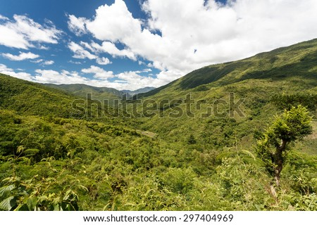 Scenic Landscape in Chin State Mountains, Myanmar (Burma) - stock photo