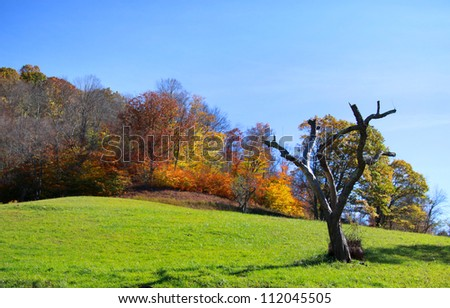 Scenic landscape in rural West Virginia - stock photo