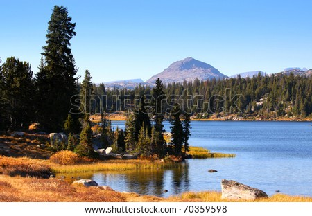 Scenic landscape in Wyoming - stock photo