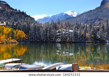 Scenic landscape near Ouray - stock photo