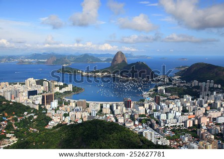 Scenic landscape of Rio De Janeiro city - stock photo