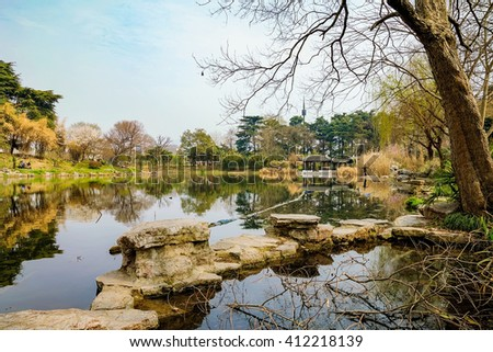 Scenic landscape of Xuanwu Lake in Nanjing