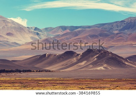 Scenic landscapes of Northern Argentina - stock photo