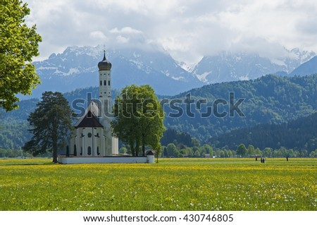 Scenic mountain landscape in the Bavarian Alps