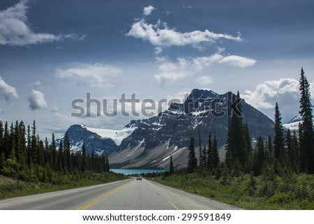 Scenic mountain road - stock photo