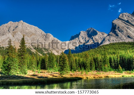 Scenic Mountain Views, Elbow Lake area, Peter Lougheed Provincial Park, Alberta Canada
