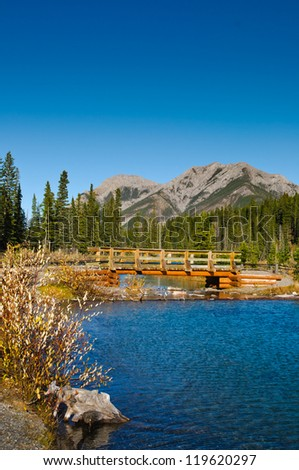 Scenic mountain views, Kananaskis Country Alberta Canada in Autumn