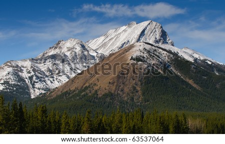 Scenic Mountains in autumn, Kananaskis Country Alberta Canada - stock photo