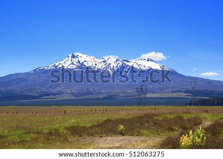 Scenic New Zealand landscape in Tongariro National Park