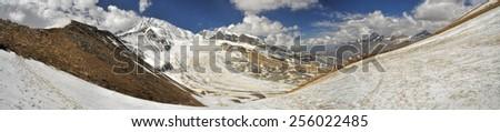 Scenic panorama in Dolpo region in Nepal - stock photo