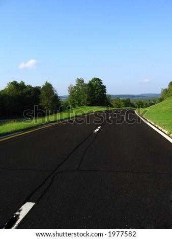 Scenic Parkway - stock photo