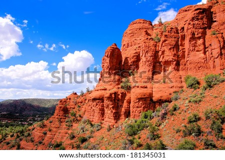 Scenic red cliffs at Sedona, Arizona, USA - stock photo