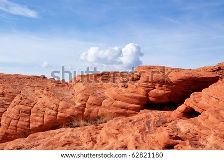 Scenic Red Rock Canyon in Nevada - stock photo