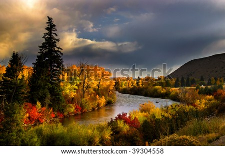 Scenic river - stock photo