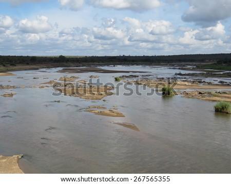 Scenic river view. - stock photo