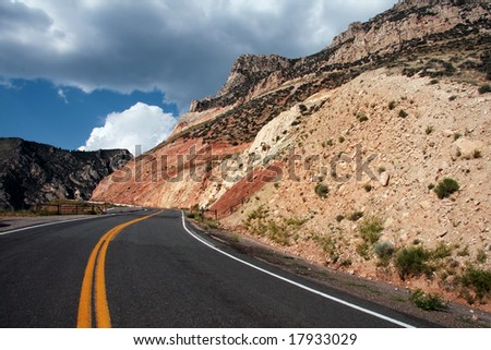 Scenic roadway in the north west mountains, USA