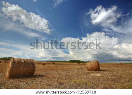 Scenic Saskatchewan countryside - stock photo