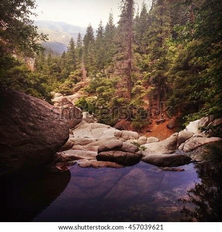 Scenic scene of Yosemite National Park. - stock photo