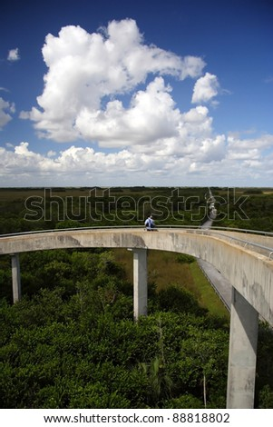 Scenic Shark Valley in Everglades National Park - stock photo
