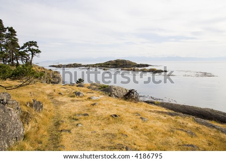 Scenic shot taken for Shark Reef Sanctuary on Lopez Island in the San Juan Islands of Washington