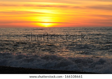 Scenic sunset over the Black Sea