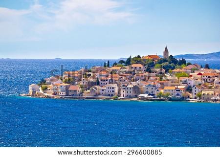 Scenic town of Primosten view, Dalmatia, Croatia - stock photo