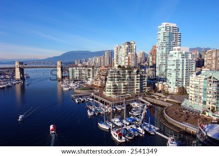 Scenic Vancouver Harbour - stock photo