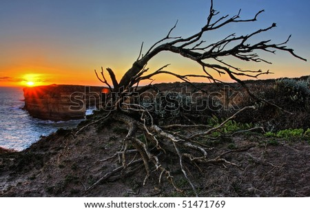 Scenic View along the Great Ocean Road - stock photo
