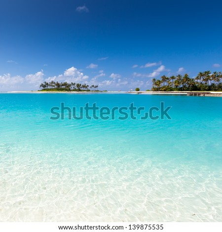 Scenic view at ocean near Maldives - stock photo