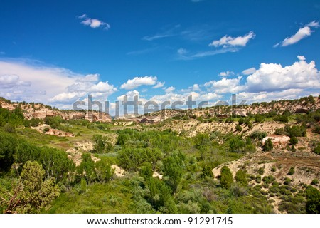 Scenic view from Kanab Canyon - stock photo