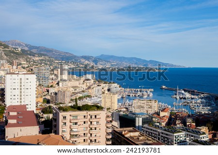 Scenic view from Monaco Village, daytime - stock photo
