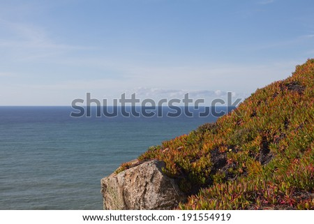 Scenic view from Westernmost point of Europe, Portugal - stock photo