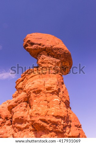 Scenic view in Arches  National park in summer season,Utah,usa. - stock photo