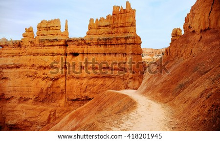 Scenic view in Bryce Canyon National Park in Utah, USA - stock photo