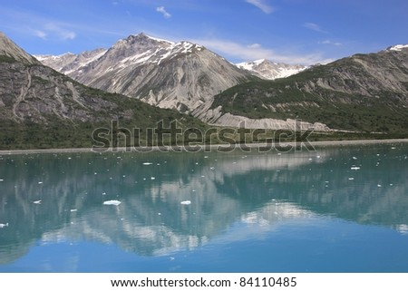 scenic view in Glacier Bay national park, Alaska - stock photo