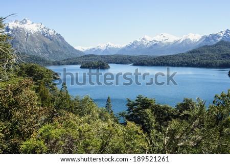 Scenic View in Patagonia, near Bariloche, Argentina - stock photo