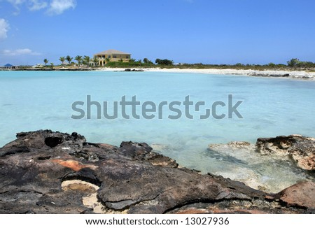 Scenic view in Turks and Caicos - stock photo