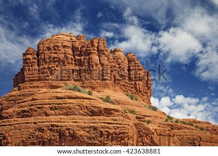scenic view of bell rock in sedona, arizona - stock photo