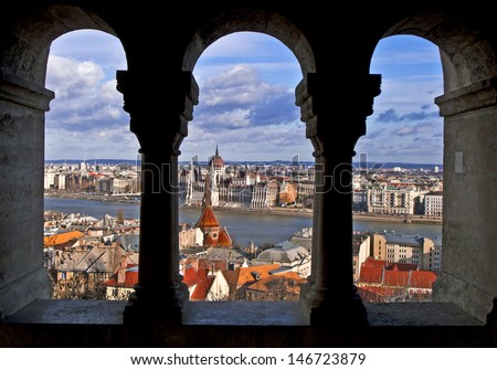 Scenic view of Budapest, Budapest, Hungary - stock photo
