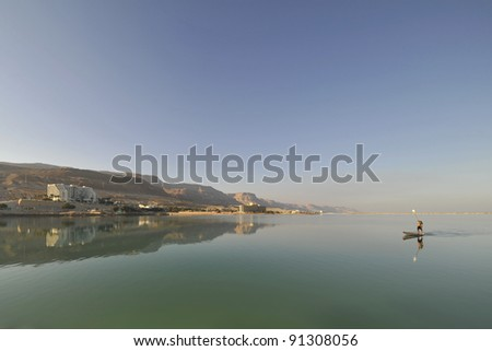 Scenic view of Dead Sea coast in Israel.
