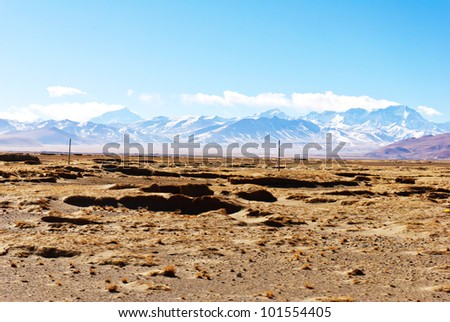 Scenic view of Himalaya mountains