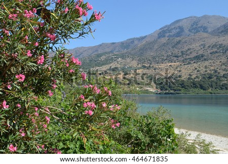 Scenic View of Lake Kournas in Crete