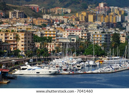 Scenic view of Messina, Sicily - stock photo