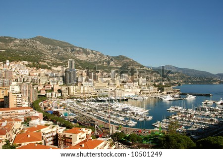 Scenic view of Monte Carlo - stock photo