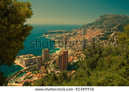 Scenic View of Monte Carlo - Monaco at Cote d'Azur - stock photo