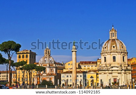 Scenic view of Piazza Venezia, Rome, Italy - stock photo