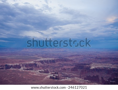 Scenic view of the canyon in the USA national park - stock photo