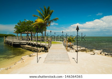 Scenic view of the Florida Keys. - stock photo