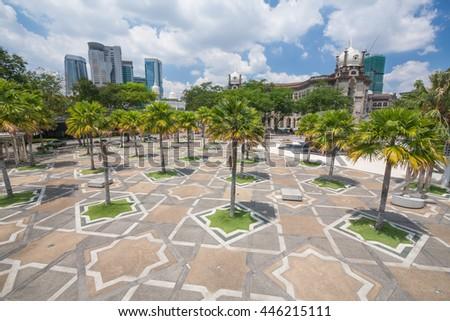 Scenic view of the Kuala Lumpur / Capital city of the Malaysia - stock photo