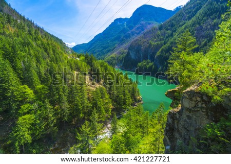 scenic view on the day in  North cascade National park ,Washington,usa. - stock photo